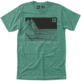 Hippy Tree Nightbreak Camiseta Hombre, heather green